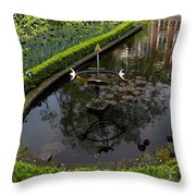 In The Heart Of Amsterdam Hidden Tranquility  Throw Pillow