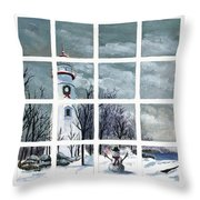 In The Holiday Spirit At Marblehead Throw Pillow