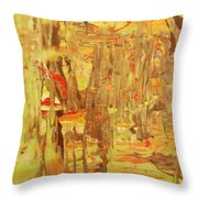 in the Jamaica forest Throw Pillow