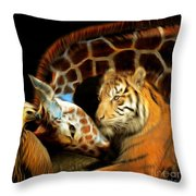 In The Jungle 20150215brun Square Throw Pillow