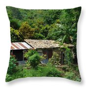 In The Jungle House Throw Pillow
