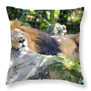 In The Jungle The Mighty Jungle Throw Pillow