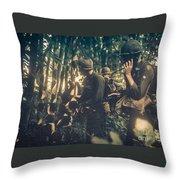 In The Jungle - Vietnam Throw Pillow