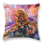 In The Jungle... Throw Pillow