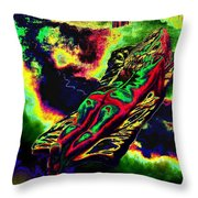 In The Kaleidoscopic Clutches Of Books Throw Pillow