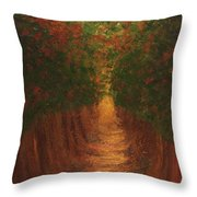 In The Lane Throw Pillow