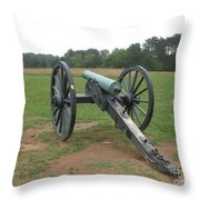 In The Line Of Fire - Manassas Battlefield Throw Pillow