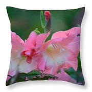 In The Midst Of Hydrangeas Throw Pillow