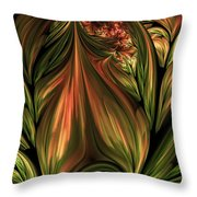 In The Midst Of Nature Abstract Throw Pillow