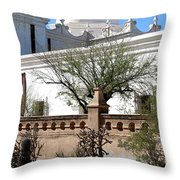 In The Mission Garden Throw Pillow