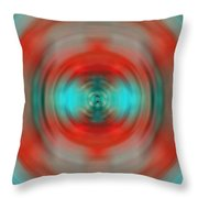 In The Moment - Energy Art By Sharon Cummings Throw Pillow