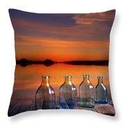 In The Morning At 4.33 Throw Pillow by Veikko Suikkanen