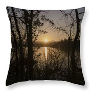 In The Morning At Lough Eske Throw Pillow