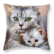 In The Mothers Embrace Throw Pillow