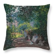 In The Park Monceau Throw Pillow