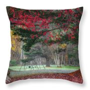 In The Park Square Throw Pillow