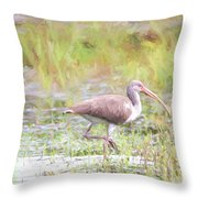 In The Pasture Grass Throw Pillow