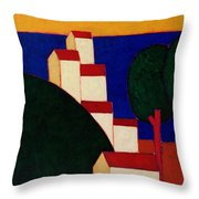 In The Provencal Alps Throw Pillow