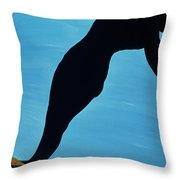 In The Public Eye, 1998 Throw Pillow by Marjorie Weiss
