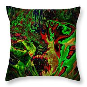 In The Rock 'n' Roll Jungle Throw Pillow