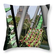 In The Shadow Of Hogwarts Throw Pillow