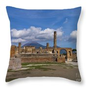 In The Shadow Of The Volcano Throw Pillow