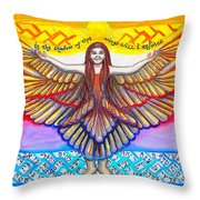In The Shadow Of Thy Wings Psalms Throw Pillow