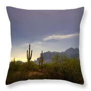 In The Shadows Of The Superstitions  Throw Pillow