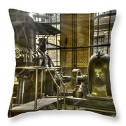 In The Ship-lift Engine Room Throw Pillow