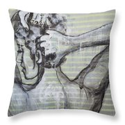 In The Shower 2- Portrait Of A Woman Throw Pillow