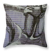 In The Shower - Portrait Of A Woman Throw Pillow