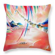 In The Sunset Throw Pillow