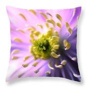 Clematis 1 Throw Pillow