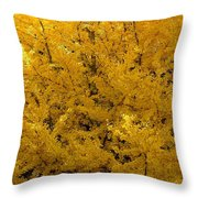 In The Thick Of Autumn Throw Pillow