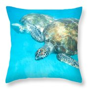 In The Turquoise Blue Throw Pillow