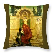 In The Venusberg Tannhauser Throw Pillow