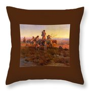 In The Wake Of The Buffalo Hunters Throw Pillow