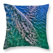 In The Wake Throw Pillow