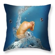 In The Water Throw Pillow by Mark Ashkenazi