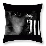 In The Web Throw Pillow