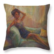 In The Window Light Throw Pillow by Quin Sweetman