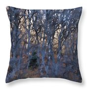In The Woods V2 Throw Pillow