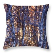 In The Woods V5 Throw Pillow