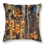 In The Woods V6 Throw Pillow