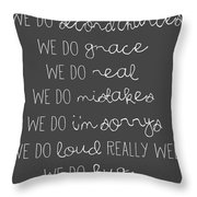 In This Home Chalkboard Throw Pillow