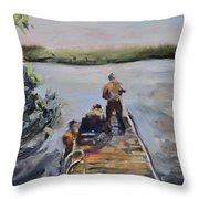 In Thy Gracious Care Throw Pillow