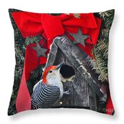 In Time For Christmas Throw Pillow