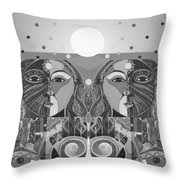In Unity And Harmony In Grayscale Throw Pillow
