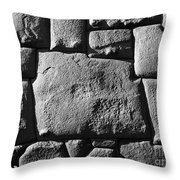 Inca Stonework Throw Pillow