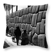 Inca Street Cusco Throw Pillow